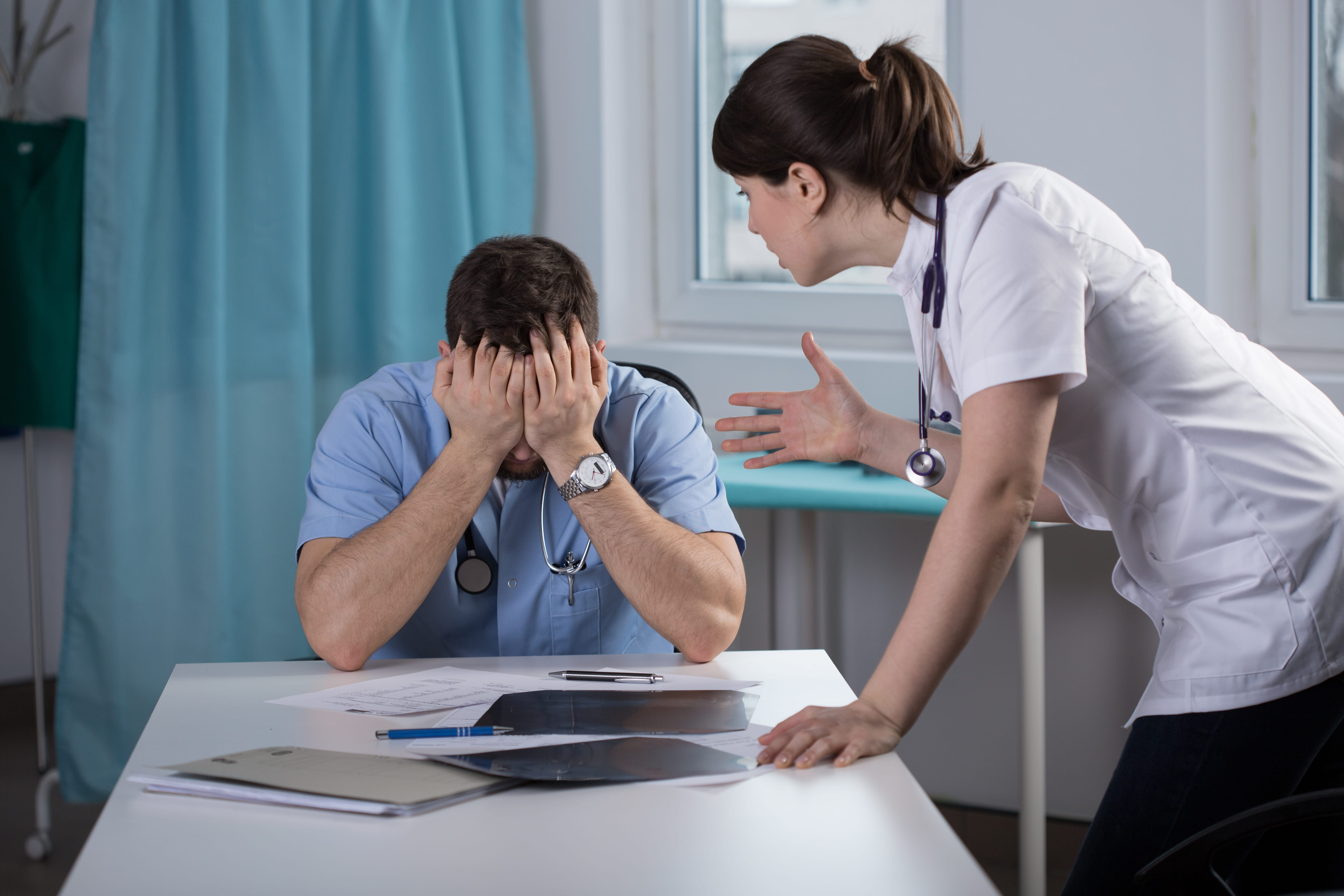 doctor discovering how he committed medical malpractice