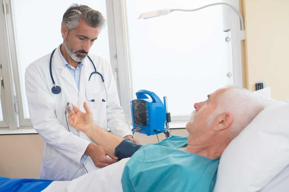 a doctor discussing with a patient