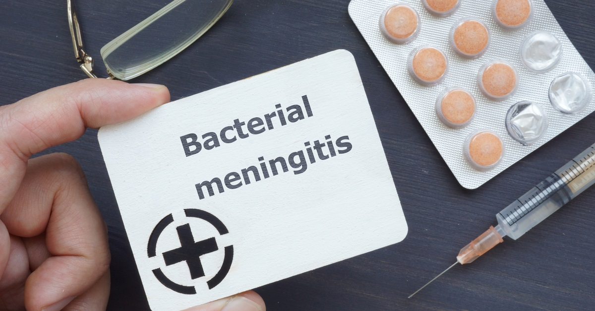 Bacterial meningitis infection concept